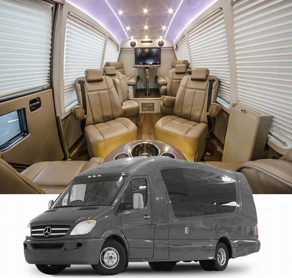 get a price quote for luxury mercedes sprinter van