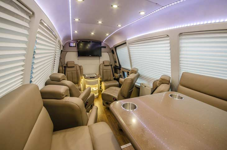 Luxury Sprinter Charters His Majesty Coach