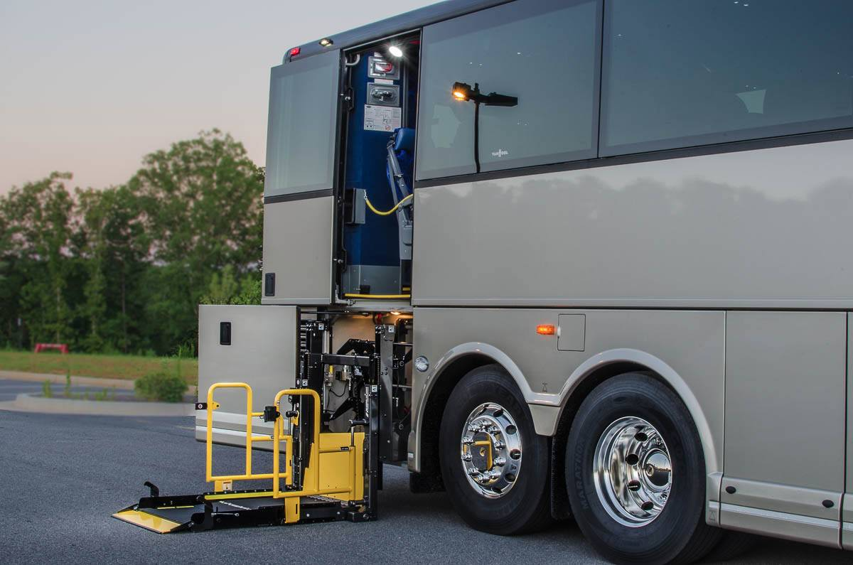 wheelchair lift bus. Fine Lift In Wheelchair Lift Bus