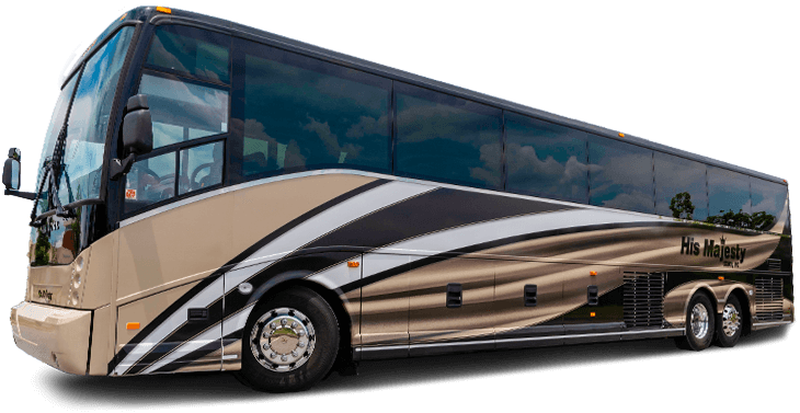 Tour Bus Rentals and Charter Bus Rentals with His Majesty Coach